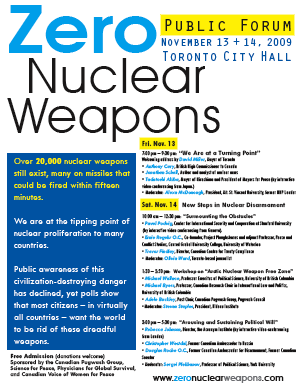 Zero Nuclear Weapons event poster